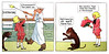 Buster Brown and Tige - Travelling - Comic Strip 3353 (Brechtbug) Tags: buster brown tige on ship comics strip character vintage post card by cartoonist richard felton outcault 1906 american journal examiner color newspaper give away lithograph tin can hat postcard postcards cards puck magazine william randolph hearst new york pit bull terrier dog mascot logo shoe shoes store sign mary janes candy nyc 2017