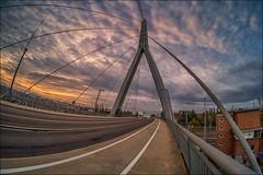 Berliner Brücke (p h o t o . w o r l d s) Tags: berlinerbrücke hallesaale architecture architektur hdr bridge fisheye eveninglight eveningsun evening beatifullight fujixt10 7artisans75mm28 photoworlds