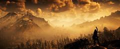 Ascending (~Scimo~) Tags: hzd ps4 screenshot panorama sunset sky mountain landscape fog horizon horizont