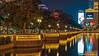 Las Vegas, NV: Bellagio promenade along the South Las Vegas Blvd Strip (nabobswims) Tags: bellagiohotelcasino hdr highdynamicrange lake lasvegas lasvegasstrip lightroom metro nv nabob nabobswims nevada night pool reflection sel18105g sonya6000 us unitedstates