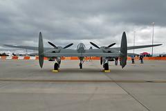 P-38F Lightning s/n 42-12652 (skyhawkpc) Tags: 2017 pikespeakregionalairshow colorado allrightsreserved garyverver coloradosprings co cos kcos coloradospringsairport copyright usaaf lockheed p38f lightning 4212652 n12652 white33 airshow aircraft aviation warbird