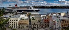 Ships Arrived (Kev Walker ¦ 7 Million Views..Thank You) Tags: architecture building canon1855mm canon700d châteaufrontenac clouds cruiseship digitalart hdr historic panorama panoramic postprocessing queenmary2 québec saintlawrenceriver vieuxport