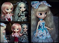 Sou eu? - (1-3) (♪Bell♫) Tags: pullip romantic alice blue monochrome du jardin emilly helena rosemberg susanne rosenthal doll groove história