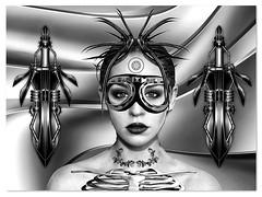 Xenuarius (Swissrock-II) Tags: challenge digitalart digitalmania photoshop photomanipulation photoart photoshopart lightroom pixlr frame steampunk faestock deviantart october 2017 andykobel blackwhite monochrome