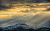 Camerino at sunset (Luca-Anconetani) Tags: clouds sunset lights sibillini lemarche lucaanconetani tramonto sera paesaggio nuvole raggi paesaggimarchigiani hills appennino appenninomarchigiano camerino raggidiluce rays città