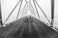 Mr. J.J. van der Veldebrug (Rolling Spoke) Tags: mrjjvanderveldebrug bike bicycle bici bicicleta bicicletta bisiklet fiets fahrrad velo cannondale badboyfogmistbnwblack white mono monochrome monoart bridge brug architecture morning amsterdam canon eos5d lines sky