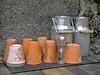 Pots et gamelles (Μonia) Tags: couleur matière verre bouteille terre alluminium bois ardoise zuiko1240mm em1
