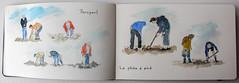 Pêche à pied (chando*) Tags: bretagne brittany finistère porspaul pêcheàpied shorefishing croquis sketch watercolor aquarelle moleskine