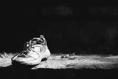 A Shoe Left Behind (ChristianRock) Tags: pentax k10d k10 takumar bayonet kmount k 135mm 135 f28 28 manual focus vintage lens chattahoochee river