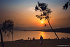Sunset With Family (bnilesh) Tags: outdoor dusk family golden lake landscape manas manidoah mansi nature sunlight sunset trees vidya water