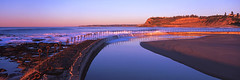 Newcastle Ocean Baths Sunrise (Martin Canning) Tags: 617 australia fuji fujig617 g617 martincanning martincanningcom nsw newcastle oceanbaths velvia50 analog baths film light mediumformat newsouthwales ocean oceanpool panorama panoramic pool reflection sunrise velvia water watermovement waves