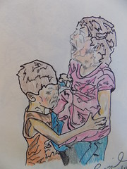 Refugee Children (rachael242) Tags: inktober2017 inktober sketch draw art black ink pencil crayon color create paper refugee children lost fear afraid alone feelings crying frightened flickr