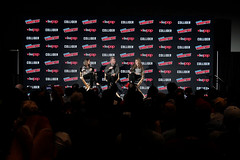 Jodie Foster (director, moderator), Charlie Brooker (Creator), Annabel Jones (Exc. Producer) (An Englishman In San Diego) Tags: gpr nycc2017blackmirror newyork ny
