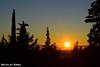 Sunset at Marjan Forest Park in Split
