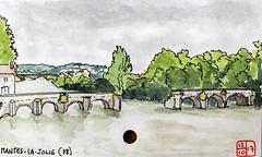 La France des sous-préfectures 78 (chando*) Tags: aquarelle watercolor croquis sketch france