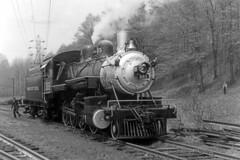 US NJ Whippany - Morris County Central 385 - MCC-WhippanyRwyMus - 1960s - Steve Zabel Coll..tif (David Pirmann) Tags: whippany newjersey nj morriscountycentral 385 whippanyrailwaymuseum steam locomotive train railroad earlegil morristownerie southernrailway385 virginiablueridge6 baldwinlocomotiveworks baldwin 280 foundphoto