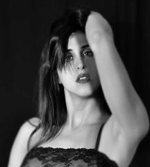 DESIDERIO (ADRIANO ART FOR PASSION) Tags: ritratto portrait biancoenero bw nikon nikond90 nikkor18200 fotostudio donna woman lucieombre lightsandshadows modella adrianoartforpassion piacere desiderio sguardo sensuale