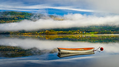 Morning blues (Richard Larssen) Tags: richard richardlarssen visitnorway voss larssen landscape lake blue boat fog hordaland mirror reflection sony scandinavia sonyfe1635mmf28gm sel1635gm 1635 f28 gm g master norway norge norwegen nature fall autumn sonyalpha teamsony a7ii ilce photography