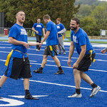 "<b>Alumni Flag Football Game</b><br/> Luther alumni played a friendly football match on the homecoming 2017 saturtday the 7th of october. The Alumni tested the new blue turf of the Legacy Field for the first time! Photo by Hasan Essam Muhammad<a href=""http://farm5.static.flickr.com/4471/37072060843_8bfd987557_o.jpg"" title=""High res"">∝</a>"