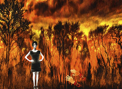 The Fires of Anger (Rusty Russ) Tags: fire anger breakup forest trees red woman black hate colorful day digital graffiti window flickr country bright happy colour eos scenic america world sunset beach water sky nature blue white tree green art light sun cloud park landscape summer city yellow people old new photoshop google bing yahoo stumbleupon getty national geographic creative composite manipulation hue pinterest blog twitter comons wiki pixel artistic topaz filter on1