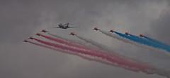 2017_09_0796 (petermit2) Tags: royalairforce raf rafdisplayteam royalairforceaerobaticteam aerobaticteam redarrows baehawkt1 bae hawkt1 hawk bombardiersentinelr1 bombardiersentinel bombardier sentinelr1 sentinel zj691 flypast rafscamptonairshow scamptonairshow rafscampton airshow scampton lincolnshire