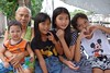 preteen girls with great grandmother and toddler (the foreign photographer - ฝรั่งถ่) Tags: three preteen girls children great grandmother toddler sitting khlong lat phrao portraits bangkhen bangkok thailand nikon d3200
