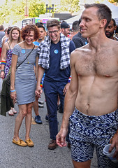 Humor is Not Dead (tacosnachosburritos) Tags: halsted street market days photography thestreets chicago windy city urban gritty people humanity gay lgbqt boystown neighborhood festival pride man guy boy girl woman chick lady summer hot beautiful lovely gorgeous revelers party fun topless