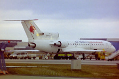 ER-YCA Yak-42D Air Moldova (corkspotter / Paul Daly) Tags: eryca yakovlev yak42d yk42 4520424306017 1706 l3j mld 9u air moldova 1993 2004 ra42435 fra eddf frankfurt negative scan