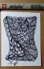 ATC exercício do dia 11 do livro Desenho Zen meditando com lápis e papel (emanuellelena) Tags: zentangle atcartistictradingcard emanuelleelena desenho drawing manaus amazonas brasil brazil