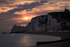 The church on the cliff (Michel Couprie) Tags: europe france normandy normandie etretat beach sky clouds composition contrejour church sea seascape clocher cliff belltower water plage canon couprie eos ef10028lmacro sunrise backlight silhouette path chemin