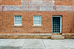 Heathcote 05 (Peter.Bartlett) Tags: vsco victoria window australia brick facade doorway colour peterbartlett urban m43 microfourthirds wall lunaphoto sign urbanarte olympuspenf kodakportra160emulation heathcote au