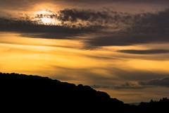The sun setting over the Wrekin, Telford. (EYeardley) Tags: sky skyshot sunset sunsetshot clouds cloudysky cloudformations cloudy cloudysunset telford theercall shropshire thewrekin silhouette nikon nikond3300 sigma