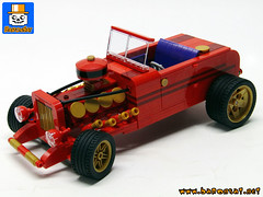 FORD 32 RED HOT ROD 02 (baronsat) Tags: lego ford 32 hot rod car moc custom roadster american classic automobile muscle fast engine dragster for sale