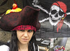 Day 3923 (evaxebra) Tags: pirate evaxebra hat parrot flag skull crossbones party birthday luna 33daysofhalloween 33days wh wah halloween