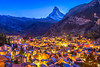 Zermatt (IRRphotography) Tags: stars town blue bluehour ch switzerland zermatt matterhorn night lights nature houses travel
