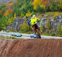 Jumping Into Traffic (John Kocijanski) Tags: odc wellitsallright motorcycle motocross race sport vehicles cars highway rider people dirtbike canon70300mmllens canon7d