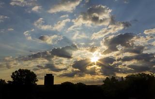 Sunrise over Binghamton University
