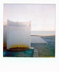 (Execution) (Robbie McIntosh) Tags: polaroid polaroidsx70 polaroidsx70model1 sx70 colorfilm newtopographics newtopography landscape beach sea polaroidoriginals polaroidoriginalssx70colorfilm shower destravolturno rust