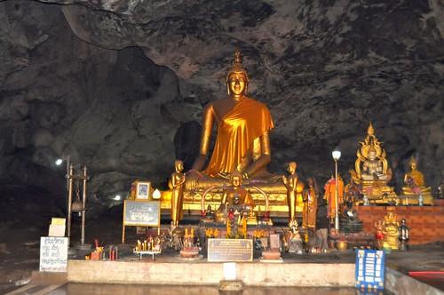 Cave Buddhist temple. Kanchanaburi, Thailand.