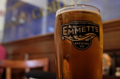 Cold Beer, Emmett's. (X70) (Mega-Magpie) Tags: fujifilm fuji x70 indoors food drink beer baverage munich light lager emmetts brewing co wheaton dupage il illinois usa america golden glass
