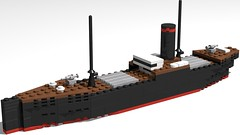 WW1 Cargo Ship (GBDanny96) Tags: lego moc cargo ship ww1 world war 1 boat military vehicle