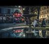 Paris by night (Photo-LB) Tags: sculpture streetphoto reflet lumière couleurs colors street paris streetparis strada personnes arbre café fontaine nikond800 sigma35mm v parisv