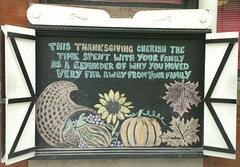 Happy Thanksgiving my dear Canucks! 💖 (Georgie_grrl) Tags: chalkboard drawing happythanksgiving canadian outerlayer toronto ontario queenstreetwest family distance thankfulness