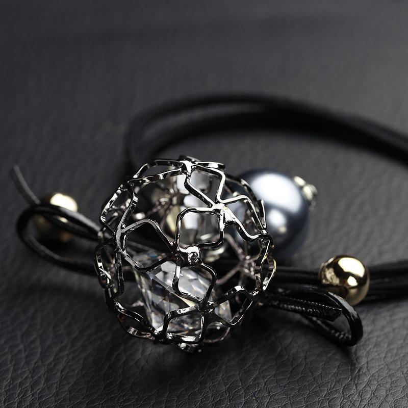Tousheng rubber band ball diamond ring hair rope simple black headdress jewelry Korean rubber band