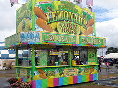 Lemonade/Corn Dogs Trailer. (dccradio) Tags: lumberton nc northcarolina robesoncounty canon powershot a3400is robesonregionalagriculturalfair fair countyfair robesoncountyfair fun entertainment communityevent bigrockamusements carnival midway outdoors outside amusements outdooramusement cloudy overcast foodtrailer foodconcessions lemonade fairfood corndogs colddrinks nachos