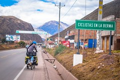 As we left Cusco it was nice to see signs indicating we were cycling in the shoulder.
