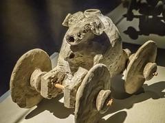 Wheeled Ram-headed Vessel Mesopotamia second half of the third millenium Early Dynasty III Period or later Terracotta (mharrsch) Tags: ram sheep wheeled vessel ritual funerary earlydynastyiii 3rdmillenium mesopotamia iraq ancient brooklynmuseum brooklyn newyork mharrsch