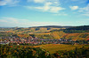 Colorful hills (DrQ_Emilian) Tags: fall autumn season light color hill vineyards patterns town rural countryside outdoors travel destination stetten kernen remstal germany badenwürtemberg europe landscape view sky clouds wandelust october