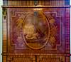Intarsienarbeit mit Musikinstrumenten eines Sekretärs (Schreibschrank) in Schloss Ludwigslust (Corno3) Tags: vase schloss sekretär pauke violine tambourin panflöte horn ludwigslust holz intarsien mecklenburgvorpommern deutschland