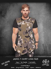 JAMES T-SHIRT LONG-BAR (Chuck Size) Tags: chucksize chucksizeforever respect kingoffthejungle mom originalmesh menonlymonthly